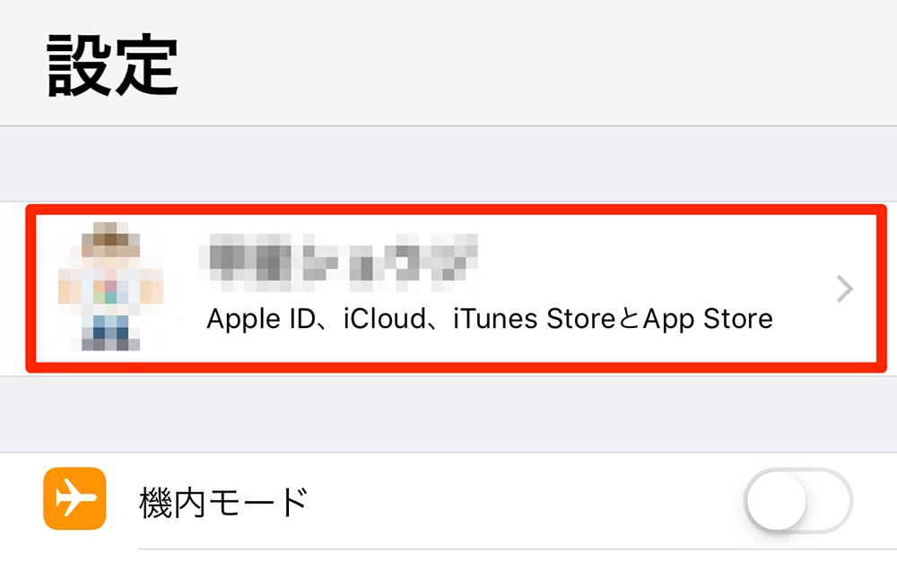 iOS 設定アプリ